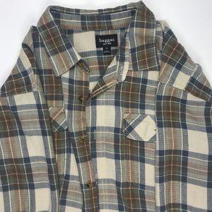 Haggar men'sXL long sleeve flannel